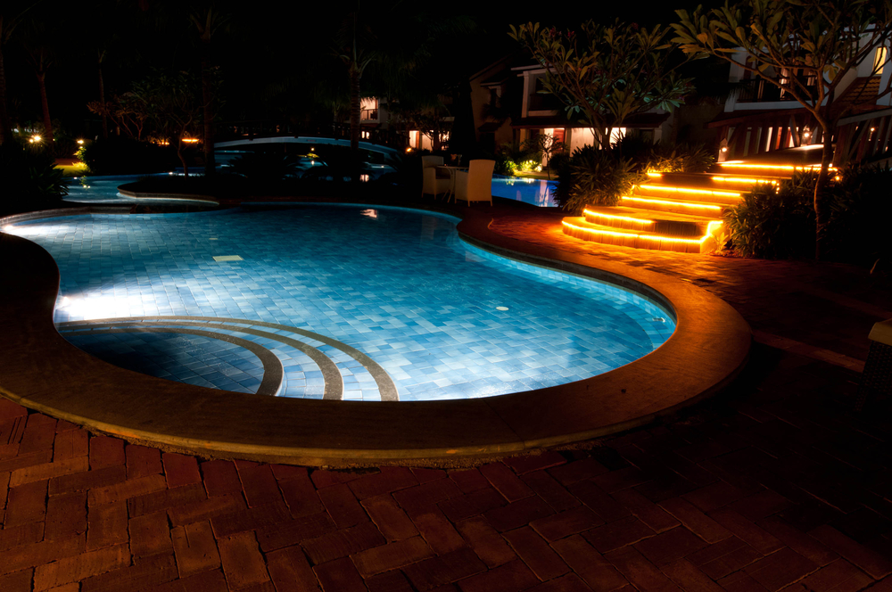Lighting in and Around Your Pool