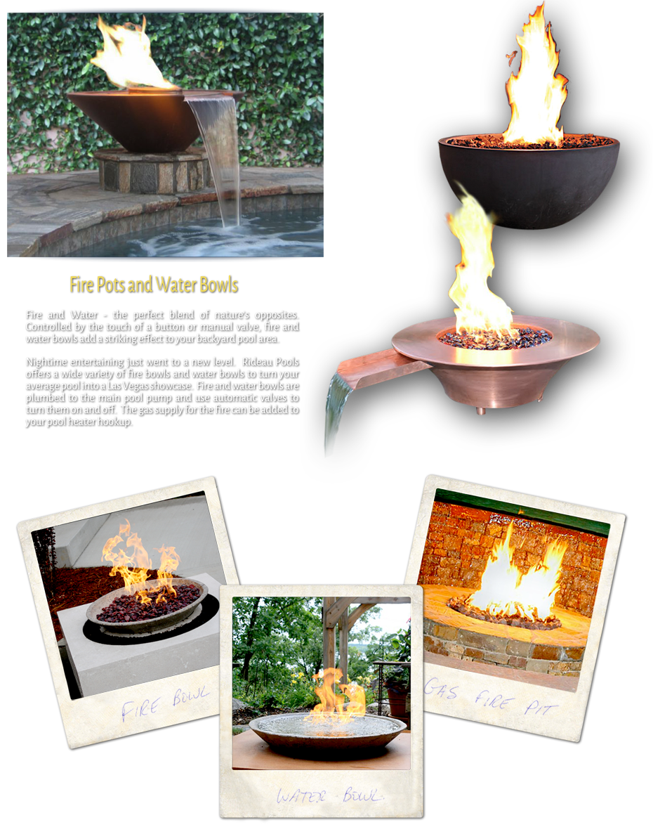 Fire Pots and Water Bowls